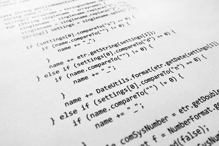Código fuente de Java Foto de archivo - 28111512