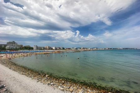 emilia romagna: coast and beach of Cattolica on riviera romagnola, Italy