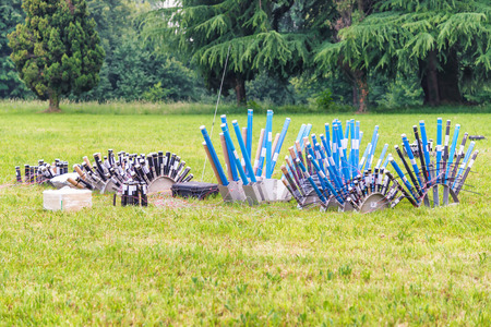 profesional: profesional fireworks preparation in the field