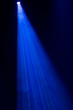 lighting effect: blue spotlight