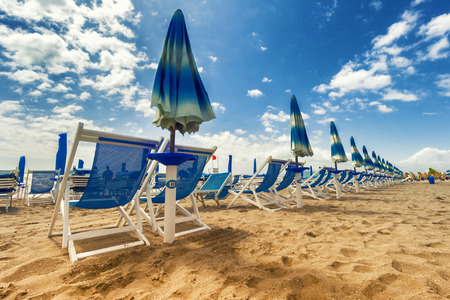 viareggio: Versilia beach. Tuscany, Italy