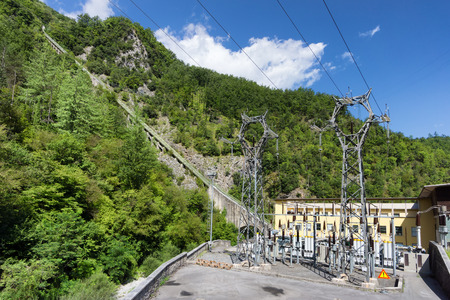electric power plant in mountain photo