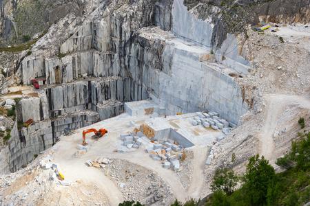 Cantera de mármol de Carrara, Toscana, Italia