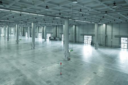 빈 큰 현대 창고, 산업 지역, 공장