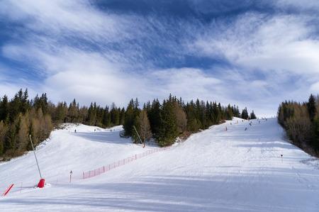 ski slopes: piste da sci in Val Malenco, Italia