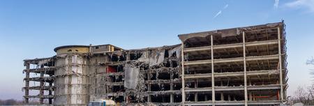 demolition: demolition of old industrial building