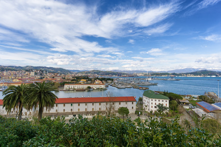 liguria: View of La Spezia harbor. Liguria, Italy Stock Photo