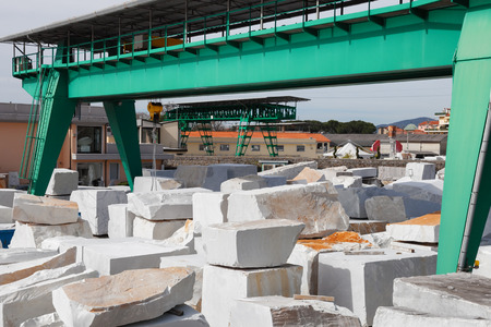 carrara: white carrara marble block