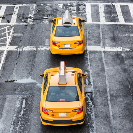 New York city taxi 写真素材