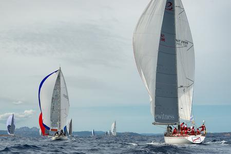 PORTO CERVO - 9 SEPTEMBER: Maxi Yacht Rolex Cup sail boat race, on September 9 2015 in Porto Cervo, Italy Redakční