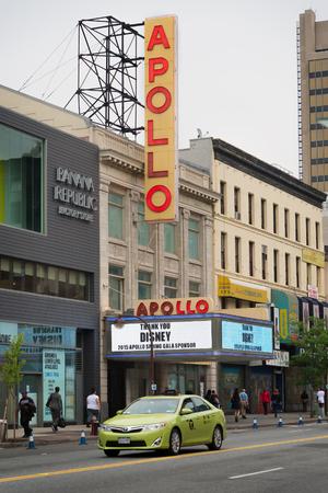 apollo: NEW YORK,USA - JUNE 16,2015 : historic Apollo Theater in Harlem, New York City Editorial