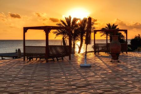 alam: sunset in Marsa Alam, red sea, Egypt