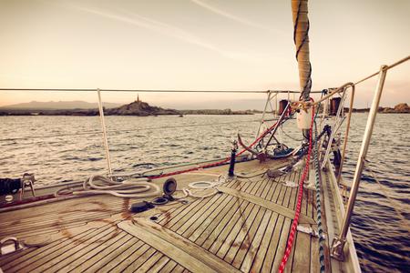 sail boat: sail boat at sunset