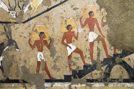 Ancienne peinture murale égyptienne Banque d'images - 56159351