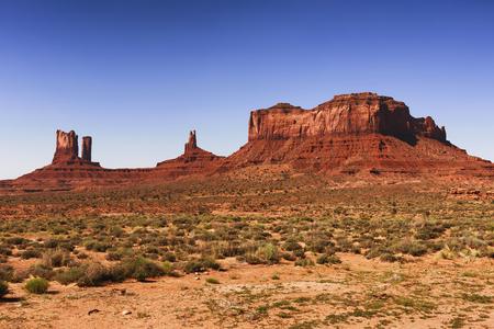 Monument Valley Tribal Park, en la línea de frontera de Arizona y Utah.