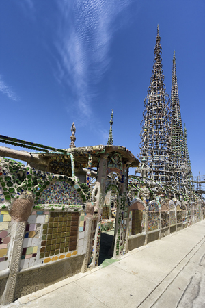 watts: Watts Towers in Los Angeles Stock Photo