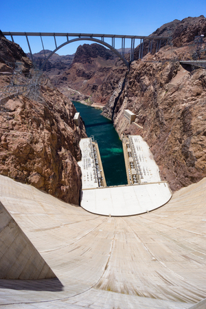 electric power: Hoover dam hydroelectric plant Stock Photo