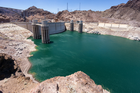 dam: Hoover dam hydroelectric plant Stock Photo