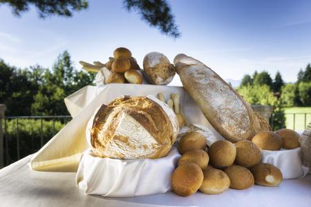 fresh bread outside