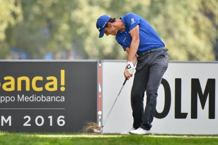 MONZA, ITALY - SEPTEMBER 17 2016: italian golf player Renato PARATORE at the 73 Golf Italian Open 2016.