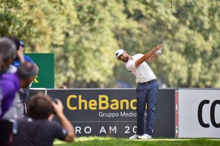 monza: MONZA, ITALY - SEPTEMBER 17 2016: Swedish golf player Rikard KARLBERG at the 73 Golf Italian Open 2016.