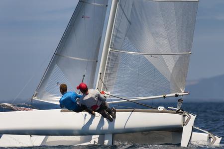 sail boat race Archivio Fotografico