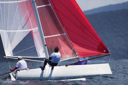 sailing crew: sail boat