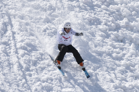 キエーザ ・ ヴァルマレンコ, イタリア - 2017 年 3 月 31 日: フリー スタイル スキー FIS ヨーロッパ カップ
