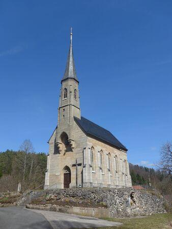 Prairie historic church in Franconia