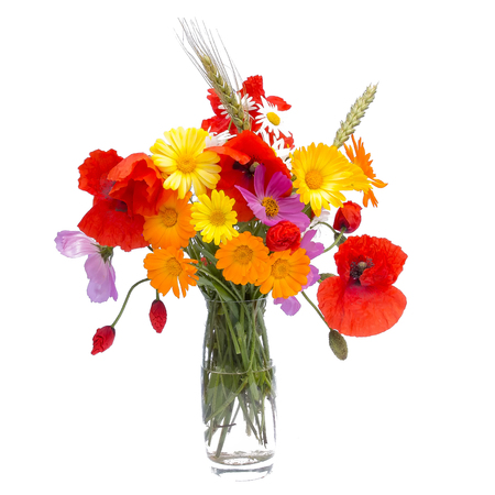 Summer flower bouquet,isolated Stock Photo