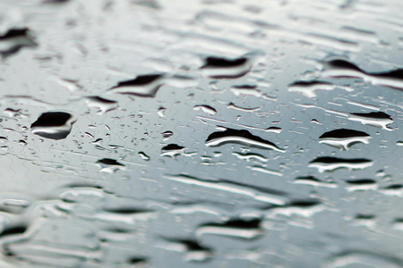 drop water: Rain drops on car windshield Stock Photo