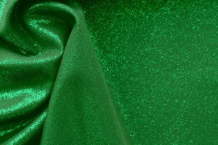 shiny green fabric structure Foto de archivo