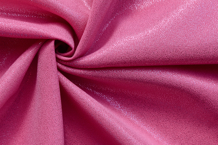 shiny pink fabric structure