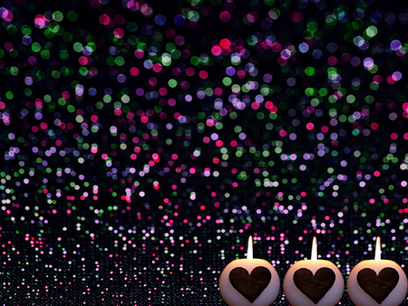 abstract romantic colorful bokeh circles for Christmas background