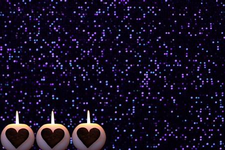 Romantic shiny fabric structure Christmas background