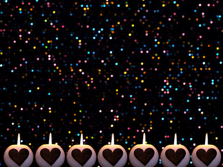 colorful christmas background with candles