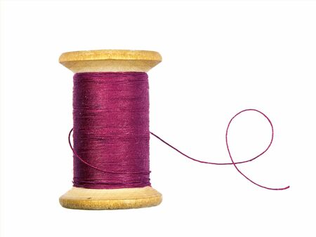 sewing threads spool isolated on white Foto de archivo