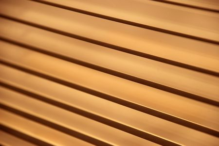 blinds: Detail image of metal blinds on a sunny day Stock Photo