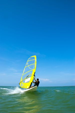 Wind surfing on a beautifull day