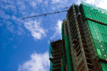 site: Construction building site with cranes Stock Photo