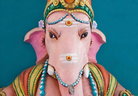 An image of a sculpture of the Hindu God Ganesh