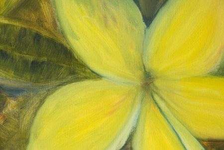 An impressionist oil painting of a yellow flower Stock Photo - 5106619