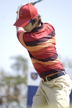 noh: Hua Hin, Thailand - January 9, 2011. South Korean professional golfer Noh Seung-yul drives at the Royal Trophy Tournament in Hua Hin, Thailand, on January 9 2011. Editorial