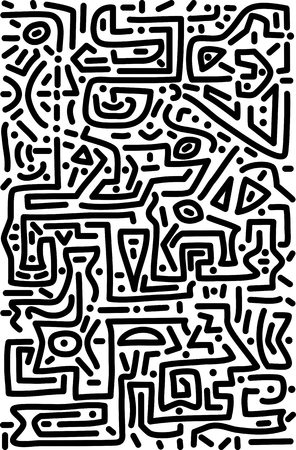 A vertical vector image of abstract background in labyrinth style