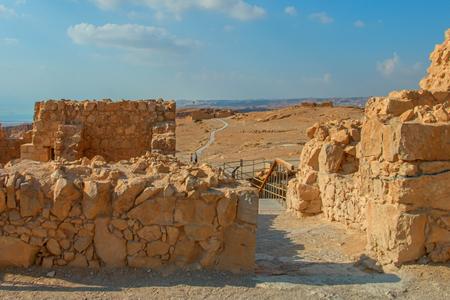 senile: Ruins of Masada fortress, Israel