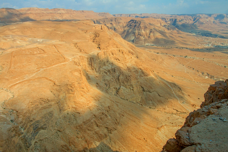 View from Masada fortress, Israel Stock Photo
