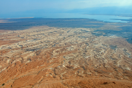 storied: View from Masada fortress, Israel Stock Photo