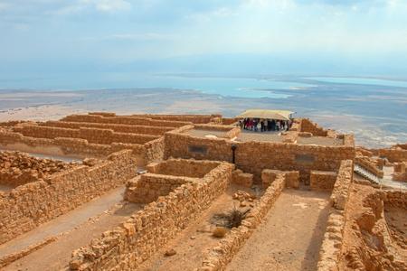 Ruins of Masada fortress, Israel Reklamní fotografie - 76758630