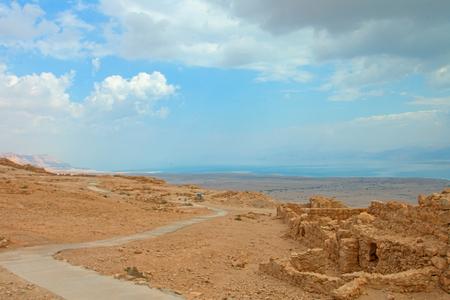 uninhabited: Ruins of Masada fortress, Israel
