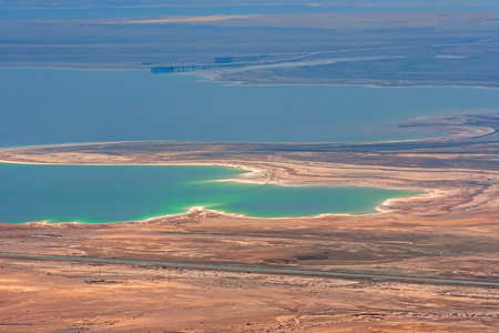 Dead Sea from the birds eye view